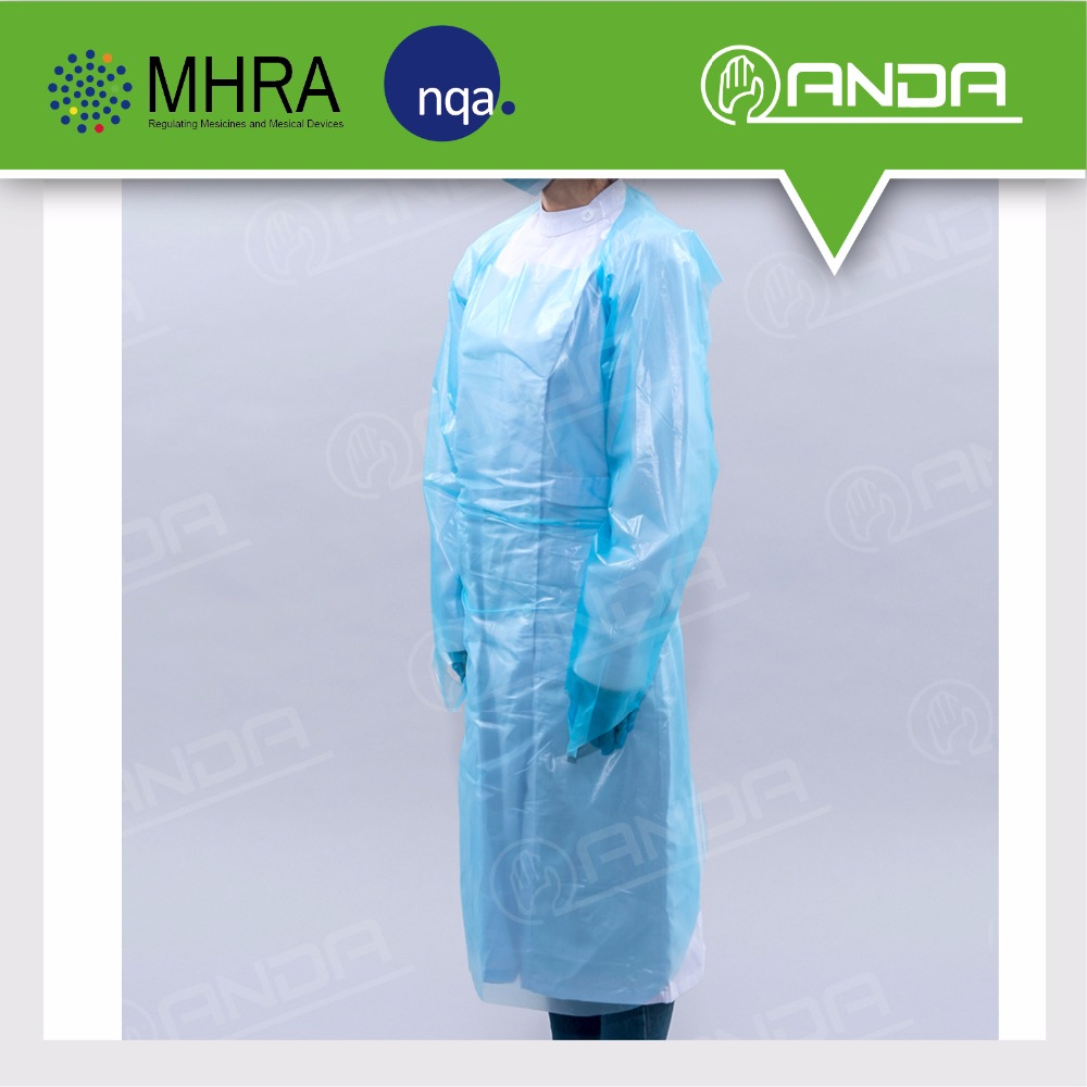 ADG001 CE ISO approved with medical cpe dental disposable gown