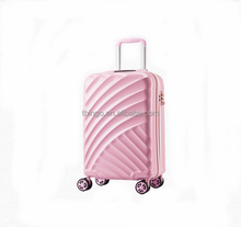 New design pink ABS/PC trolley luggage Trolley luggage set