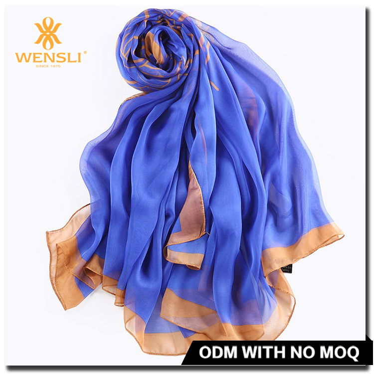 China New Designs Muslim 100 Pure Silk Scarf