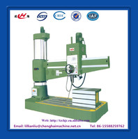 China hydraulic clamping radial arm drill machine spindle hole 80mm