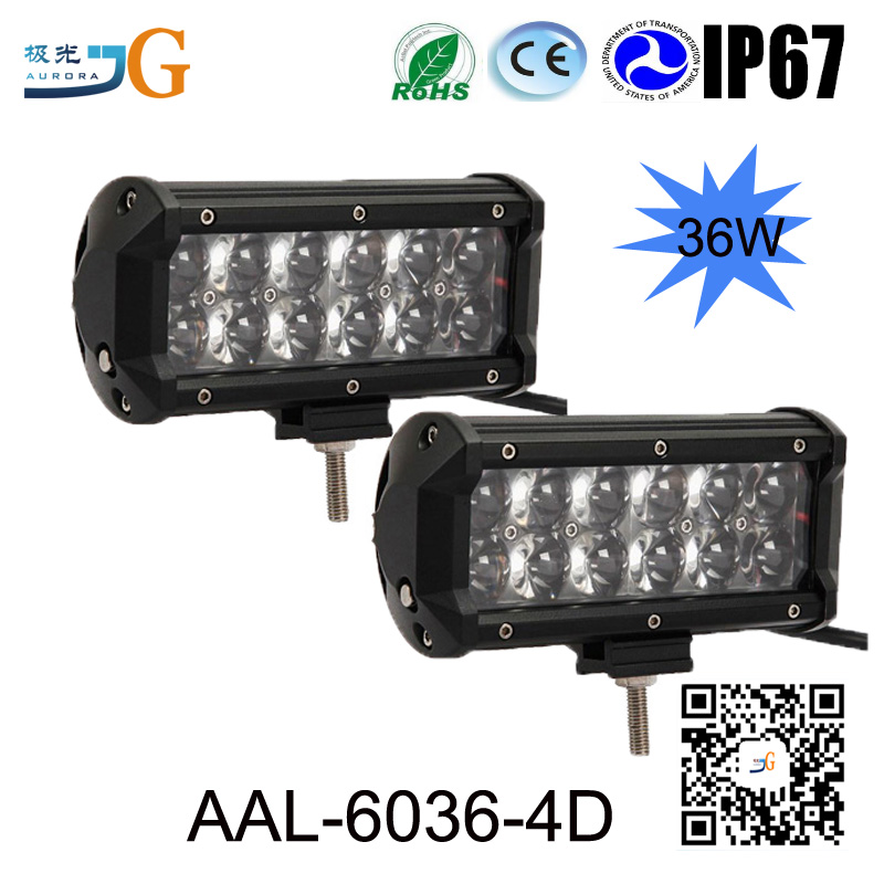 "Doble fila 6.5 ""36 W 4x4 offroad led light bar AAL-6036"
