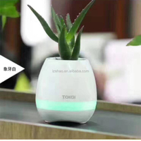 Music Flowerpot Bluetooth Speaker Rechargeable Planter