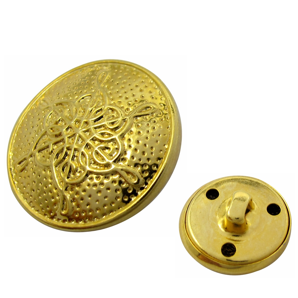 Wholesale custom made gold plated metal sew buttons