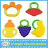 In stock Bpa free silicone baby teething toys easy clean baby safe teething toys