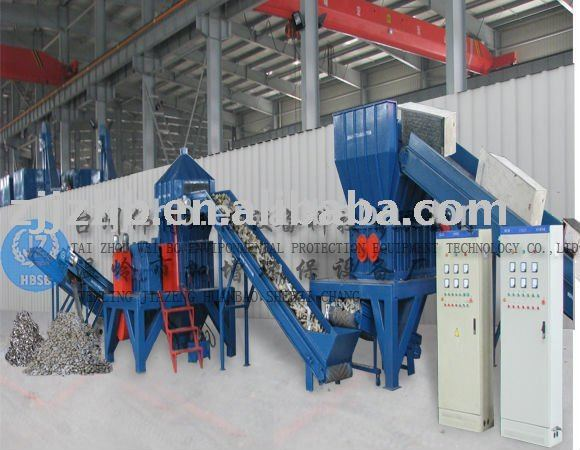 waste refrigerator recycling production line equipment