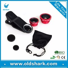 Japan Hot selling camera lens 3 in 1 fisheye lens kits