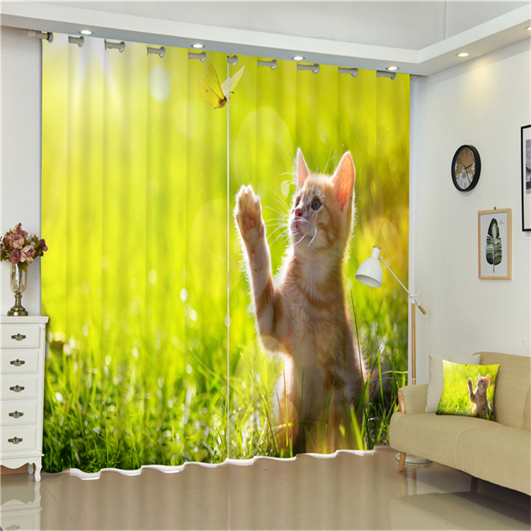 Curtain Turkey Home Textile Ready Made 3D Printed Blackout Blind Door Kitchen Window Curtain