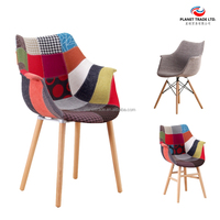 Charles Emes upholstered chair high quality with test repor in compliance with UNE-EN 12520 for Europe solid wood dining chair