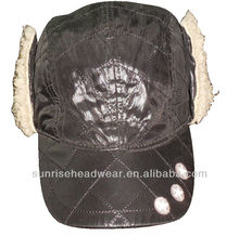 custom baseball cap with ear flaps