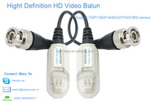 Aost tool-free single channel BNC toRJ45 converter AHD CVI TVI video balun for HD CCTV camera