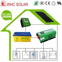 Easy Assembly off Grid 2kw Solar Power Systems with Long Warranty