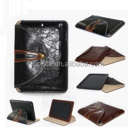 Newest high quality PU Leather Smart rotating case for ipad mini