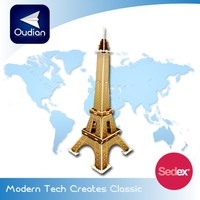 OEM 3d Puzzle La Tour Eiffel And World Famous Building Cardboard Puzzle
