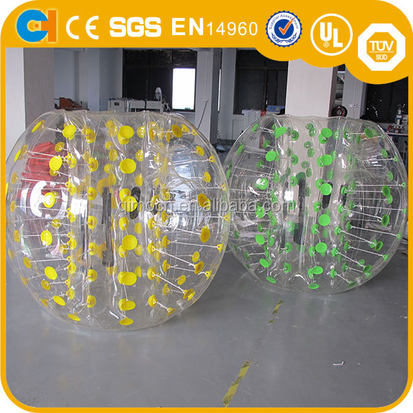 TPU/PVC Inflatable Bubble Soccer ball , Inflatable Bumper Body Ball For Team Games