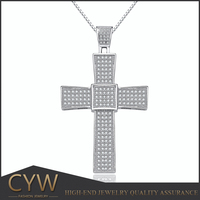 CYW wholesale beauty s925 silver cross pendant silver jewelry stores in China christian products wholesale