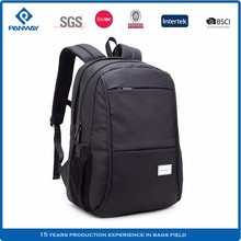China Laptop Black Zipper Pocket Polyester Classical Plain Color Backpack