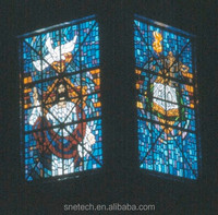 tempered facted glass church pattern interior or exterior decoration