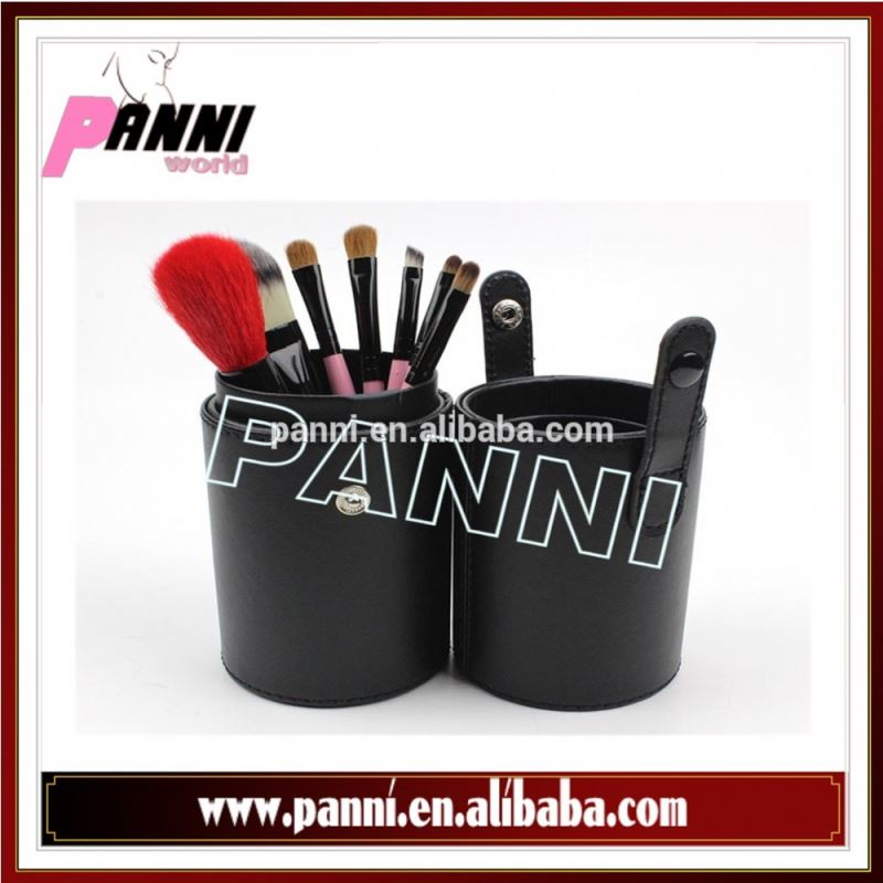 Wholesale Cylindrical innovative packaging 7pcs makeup brushes sets