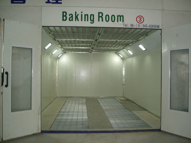 Car Spray Bake Paint Booth with Riello G20 Diesel Burner / 14kw