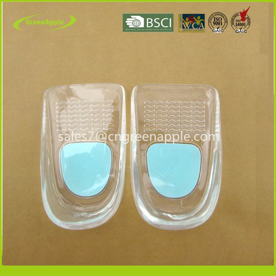 Medical Silicone Gel Soft Comfort Cushion Heel Cup Inserts Geel Heel Spur Pain Relief Shoe Insole Pad