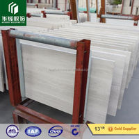 Designer's choice Wooden Grain white marble floor tiles price, old floor tile type white wood marble professional