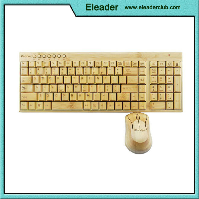 Natural wooden keyboard and mouse set 2015