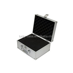 Aluminium Flight Case Small Box Silver Camera Tool Carry Travel case 250x200x125mm