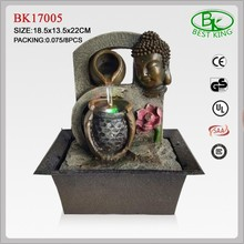 Resin indoor buddha water fountains for home