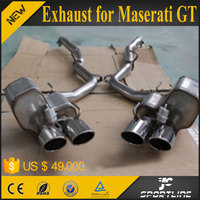 304 Steel JC Style Car Quad Outlet Exhuast fit for Maserati 2013