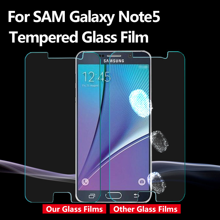 Factory wholesale best price anti scratch tempered glass screen protector for Samsung galaxy note 5 cell phone