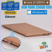 Popular pc laptops Intel core i3-5005U 256GB gaming lap tops 13.3 inch with RAM and Hard Disc WIFI dual band bluetooth