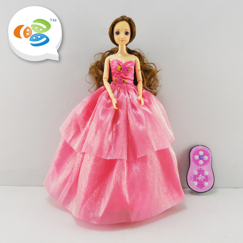 alibaba cheap remote control princess doll with light and music