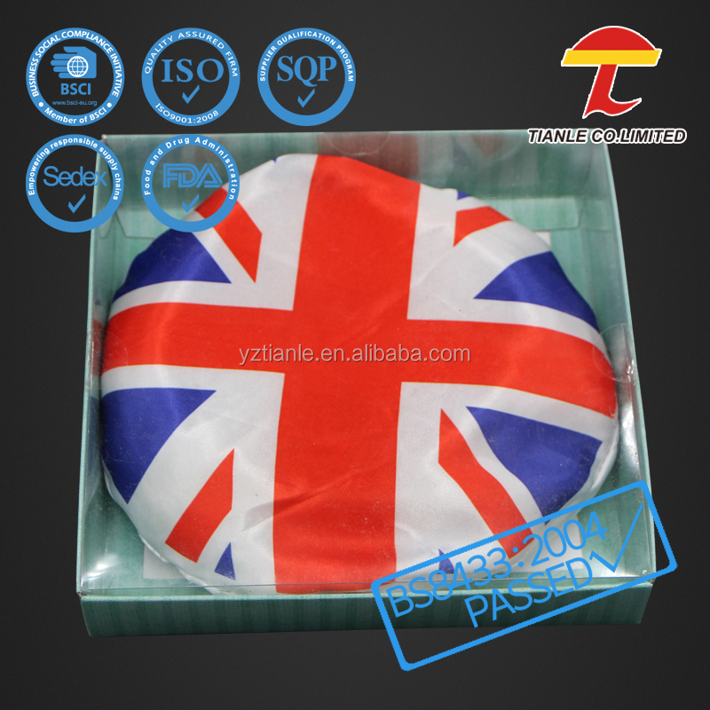Round shape UK flag wheat microwave heat pack with beads