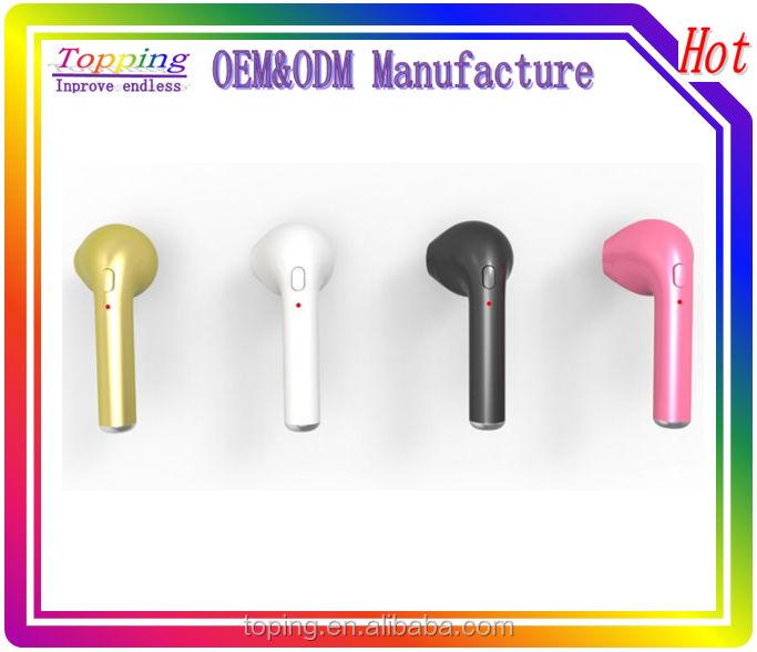 Manufacturer sport bluetooth earphones ,free swithing of double ears piece into a single side