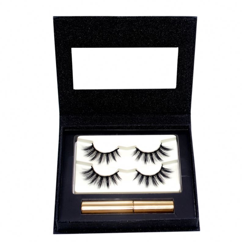 Wholesale 5 Magnets 3d mink eyelashes private label Magnetic Eyelashes magnetic lashes With Clear Lash eyelashes package <strong>box</strong>