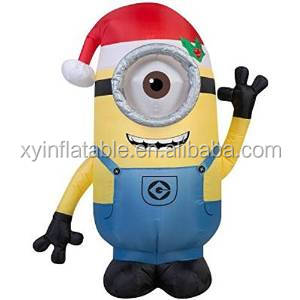 giant despicable me minion onesie modle inflatables for Xmas