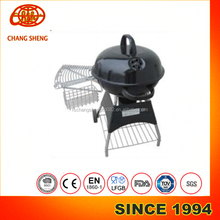 high class Top grade 22.5inches 4legs Kettle Round trolley Barbecue BBQ Grill with wire rack and table grate