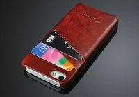 5 colors front and back logoed PU slim leather case for I phone 5 5S