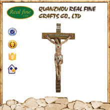 High quality resin religious saint jesus cross for decoration
