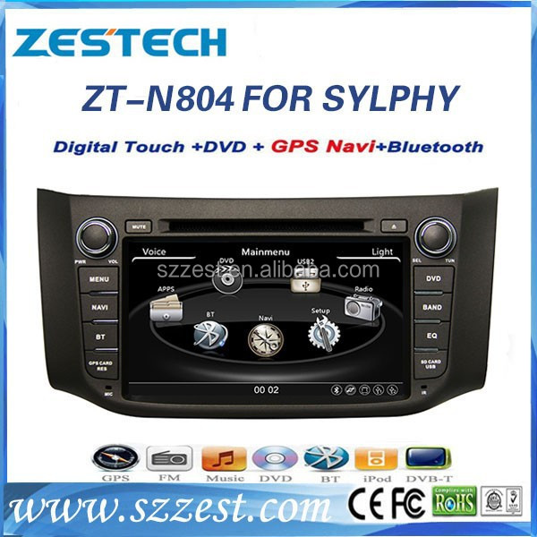 ZESTECH Touch Screen Russia world google map touch screen car dvd gps for Nissan Sylphy with dvd gps navigation