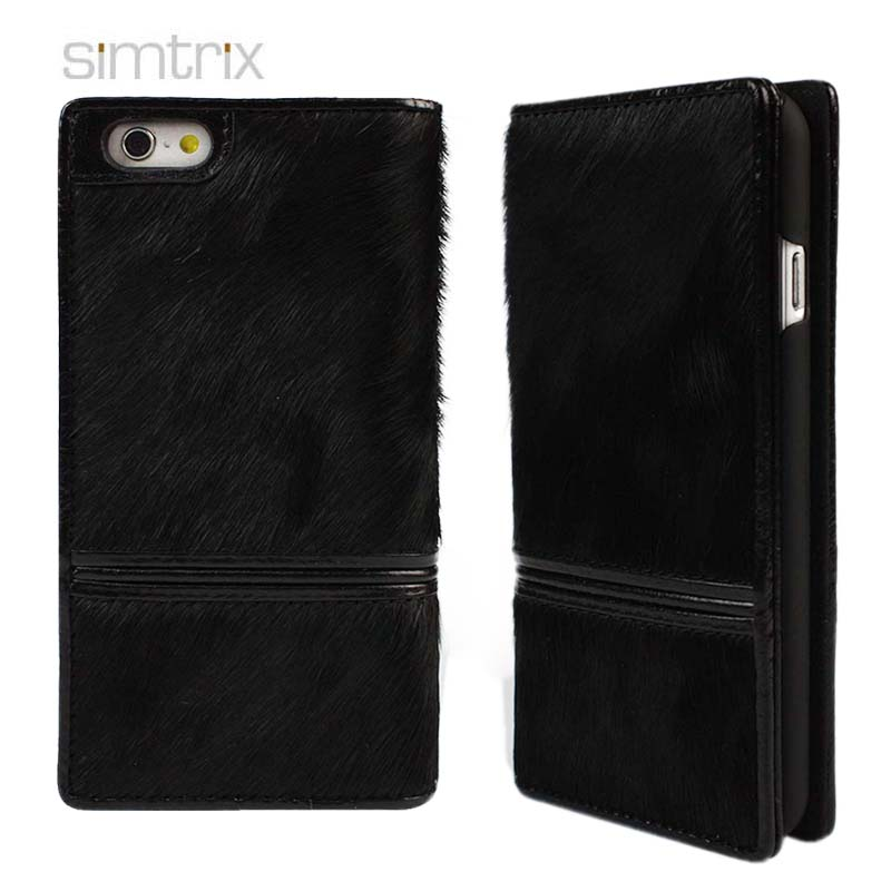New fashion real horse hair leather phone case