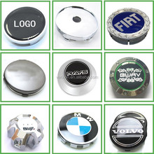Custom ABS Plastic Chrome Silver Car Logo Wheel Hub Caps Cover for Car Truck Motorcycle