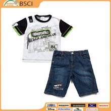 New model wholesale cute feather printed kids 2 pieces clothing sets new clothes in kg