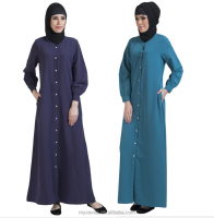 New model abaya in dubai latest abaya designs 2016 button closure for women buttoned cuffs with hint of gather waist basic abaya