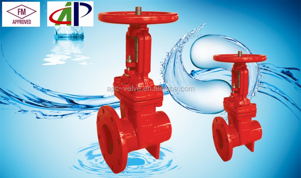 "10"" FM UL 200PSI gate valve FOR fire fighting usage"
