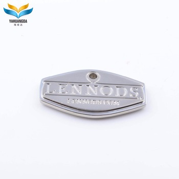 metal badge maker wholesale custom metal logo charms tag pendants