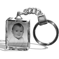 Photo Crystal Keychain For Birthday Gift
