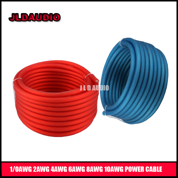 JLDAUDIO high quality car audio wire with CCA conductor power cable 0 gauge