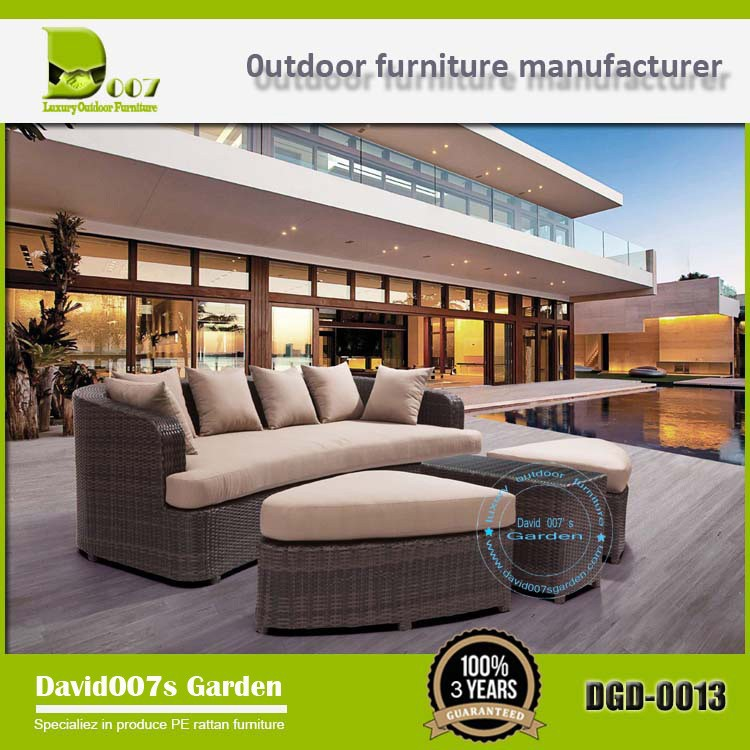 Outdoor pool furniture garden furniture iron day bed wholesale DGD-0013