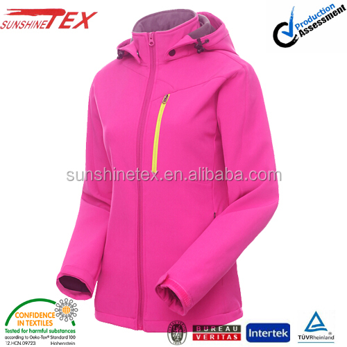 Winter woman clothes 2014 NEW softshell jacket